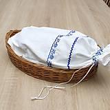 Úžitkový textil - TEREZA - folklór nestarne - vrecko na chlieb modré 43x25 - 11732577_