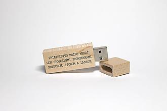 Drobnosti - DREVENÉ USB_CITÁT 3 - 11731378_