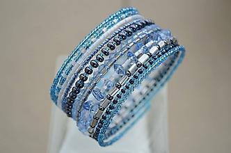 Náramky - Náramok ľadovo modrý - 11729465_