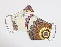 Rúška - Textilné rúško na tvár dvojvrstvové MANDALY - 11729583_