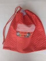 Detské tašky - Červené vrecúško-medvedík - 11734320_