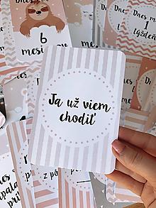 Detské doplnky - Mílnikové kartičky ružové - 11736223_
