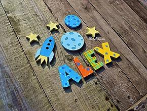 Detské doplnky - ALEX .... 6,5cm písmenká - 11734834_