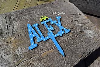 Dekorácie - tortový zápich ALEX - 11736124_