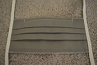 Rúška - Ochranné rúško na tvár s kovovým pásikom - šedá - 11734070_