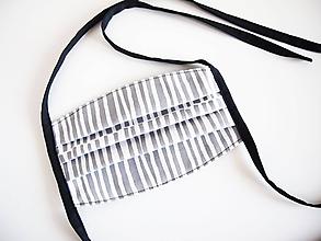Rúška - Rúško - sivobiele minimal - 11735943_