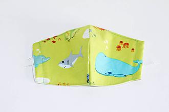 Rúška - Rúško DeLuxe  pre deti 5 -10 rokov (vzor _Morský svet) - 11734528_