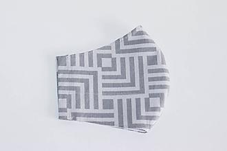 Rúška - Rúško DeLuxe  (Geometria sivá) - 11737289_