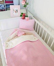 """Textil - Detský fusak, """"Silk"""", OEKO-TEX®, ružový/smotanová podšívka - 11733641_"""