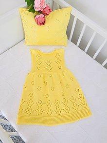 Detské oblečenie - Dievčenské šaty, Classic royal - žltá - 11733714_
