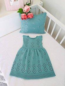 Detské oblečenie - Dievčenské šaty, Classic royal - nefritová - 11733780_