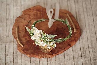 Ozdoby do vlasov - Jemný kvetinový venček - 11735666_