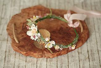 Ozdoby do vlasov - Jemný kvetinový venček - 11735681_