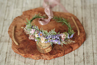 Ozdoby do vlasov - Romantický kvetinový venček - 11735693_