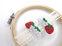 Detské doplnky - Dievčenské pukačky (jahody) - 11735579_