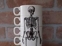 Nádoby - Sada hrnčekov - Skeleton - 11733891_