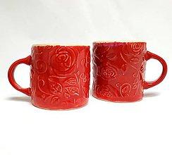 Nádoby - keramický hrnček - Červené ruže - 11733746_