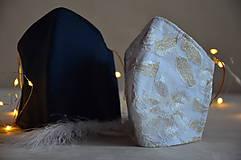 Rúška - Rúško na tvár svadobné, modré - 11736272_