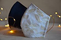 Rúška - Rúško na tvár svadobné, modré - 11736273_