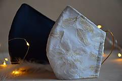 Rúška - Rúško na tvár svadobné, modré - 11736274_