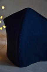 Rúška - Rúško na tvár svadobné, modré - 11736276_