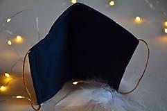 Rúška - Rúško na tvár svadobné, modré - 11736280_