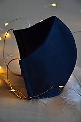 Rúška - Rúško na tvár svadobné, modré - 11736281_