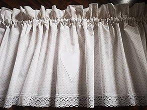 Úžitkový textil - Záclonka jemná bodka - 11736083_