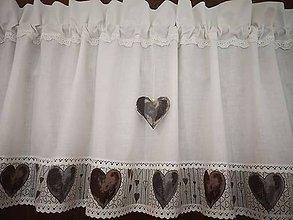 Úžitkový textil - Záclonka jemne smotanova - 11736102_