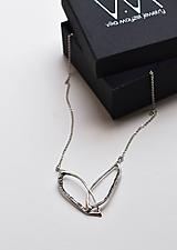Náhrdelníky - Jemný stříbrný přívěsek Ksenia - 11737301_