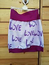 Detské oblečenie - Šitá sukně love - 11736258_