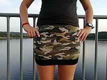 Sukne - Šitá sukně Maskáčová - 11736296_