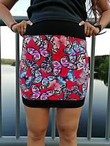 Sukne - Šitá sukně motýli - 11736385_