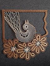 Dekorácie - Paličkovaný vtáčik (obraz) - 11734988_