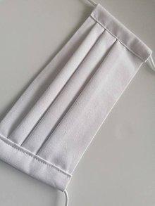 Rúška - Bavlnené rúško biele - 11733513_