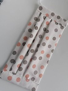 Rúška - Bavlnené rúško biele s potlačou - 11733516_