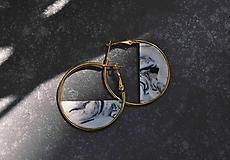 Náušnice - Náušnice ZEN v kruhu ~ biely mramor - 11737565_