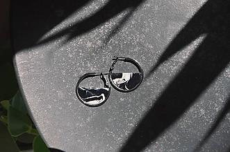 Náušnice - Náušnice ZEN v kruhu ~ čierny mramor - 11737540_