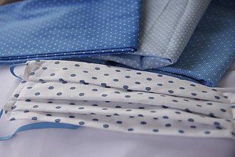 Rúška - Rúška bodkované modré - 11741235_