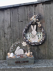 Dekorácie - Veľkonočný set so zajačikom - 11740795_