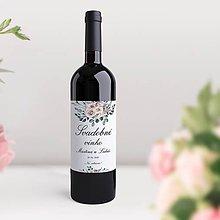 Papiernictvo - Svadobné etikety na fľaše Odeta - 11740229_