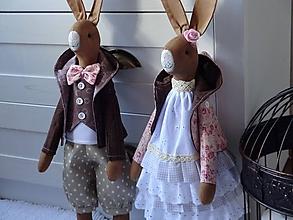 Bábiky - Zajačia slečna v kabátiku - 11738350_