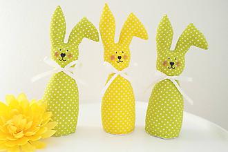 Dekorácie - Veľkonočné zajačiky - 11740296_