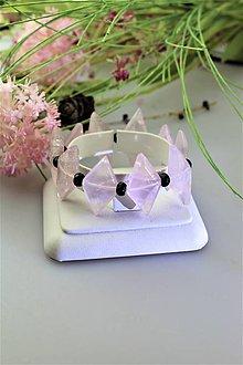 Náramky - ruženín a ónyx náramok luxusný - 11741185_