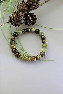 Náramky - granát zelený náramok SUPERPONUKA! - 11741451_