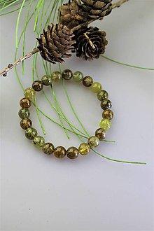 Náramky - zelený granát náramok SUPERPONUKA! - 11741508_
