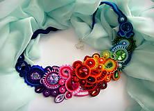 Náhrdelníky - farebný šujtášový náhrdelník - 11738203_