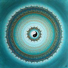 Obrazy - Mandala ZDRAVIE A IMUNITA (gold - tyrkys) 60 x 60 - 11740687_
