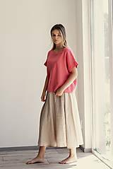 Sukne - Ľanová sukňa Campana dlhá - 11737522_