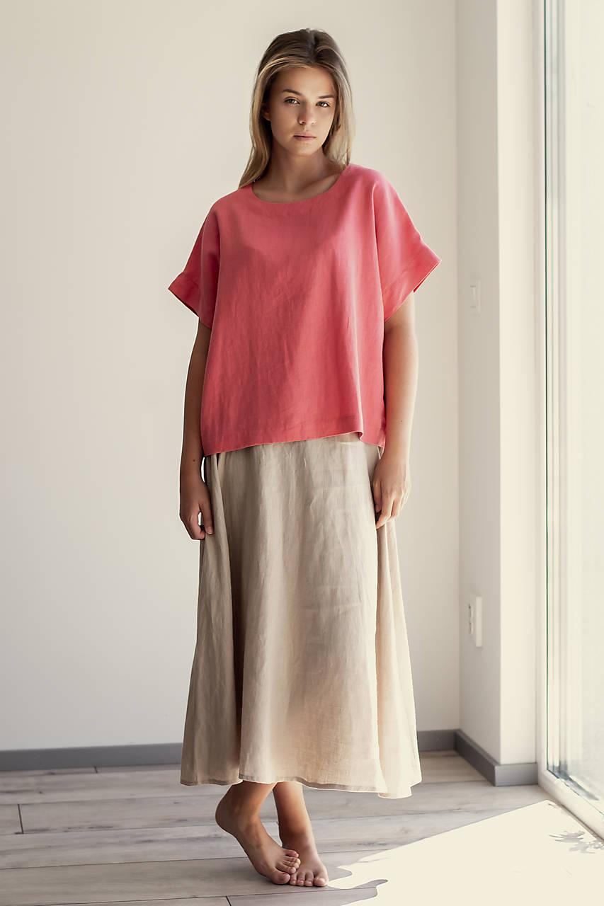 Ľanová sukňa Campana dlhá